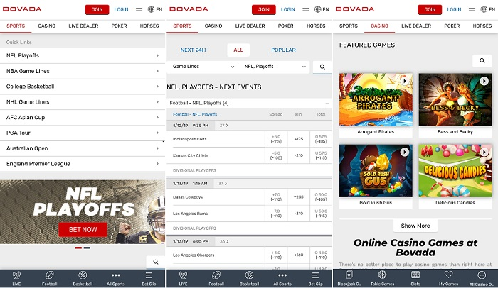 iPhone app by bovada