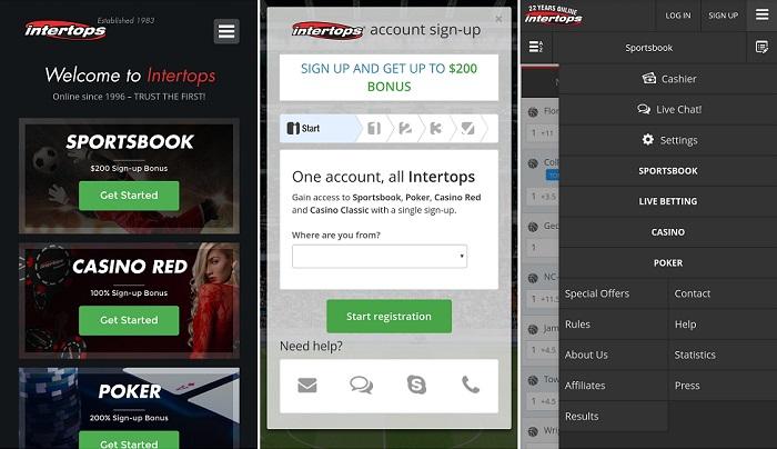 intertops Android app