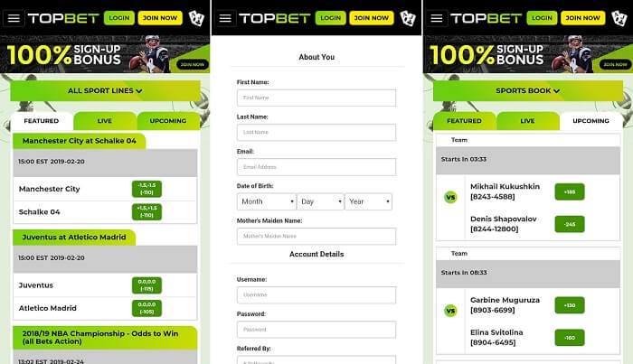 Android app from Top bet bookie