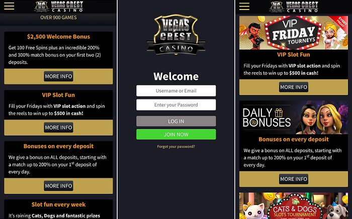 Review of the Vegas Crest Casino app